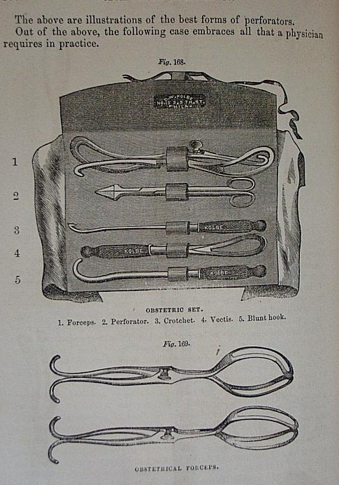 antique obstetrics tools