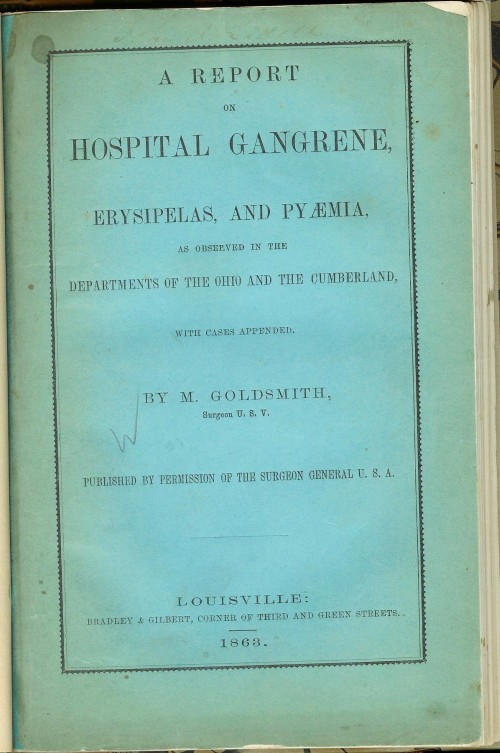 goldsmith hospital gangrene