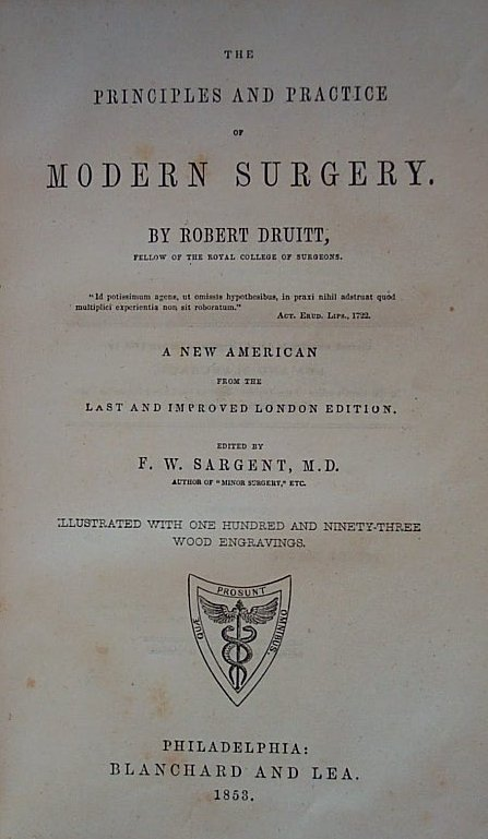 title page of antique surgical manual