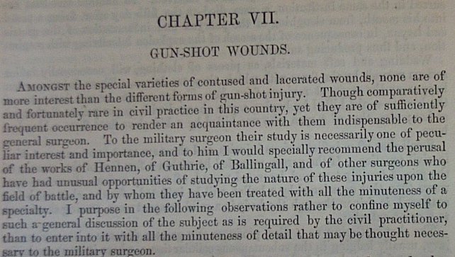 civil war gunshot wounds