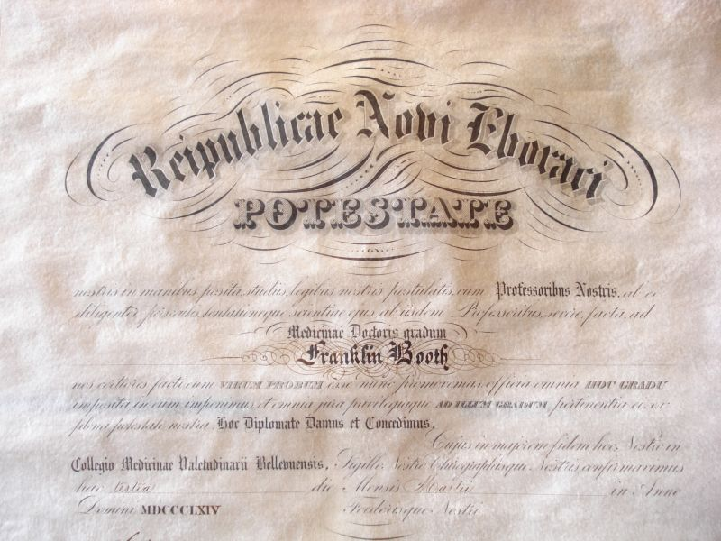 civil war medical diploma