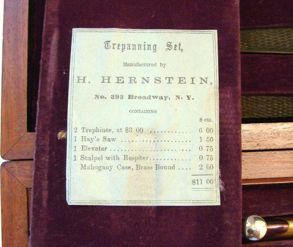 instruments in civil war trephine set