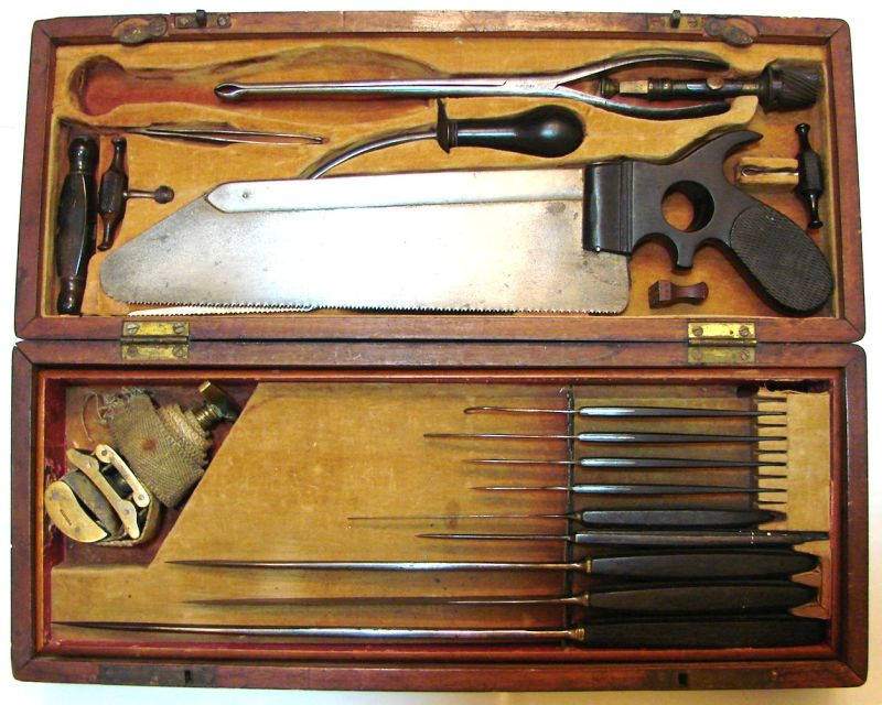 antique civil war surgical set